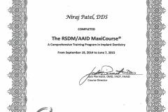 rsdm aaid maxi course